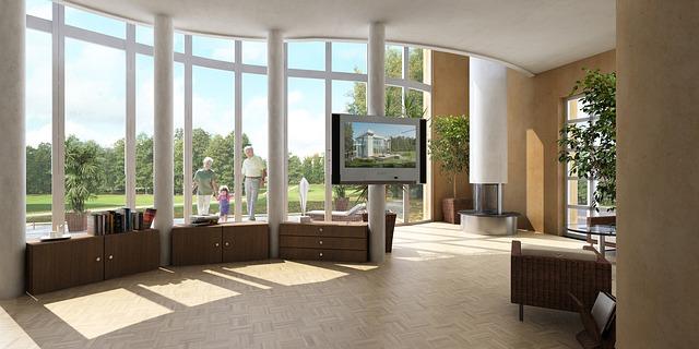 Przestronny salon z beżowymi ścianami
