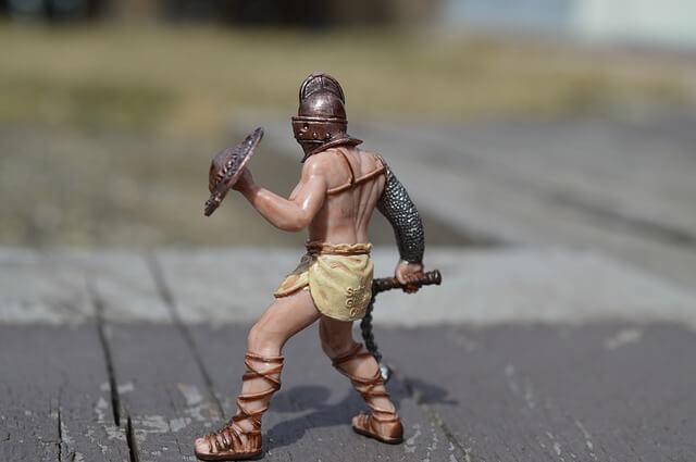 figurka gladiatora