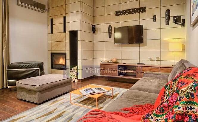 Salon apartamentu w Zakopanem