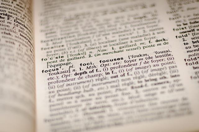 Strona ze słownika angielskiego