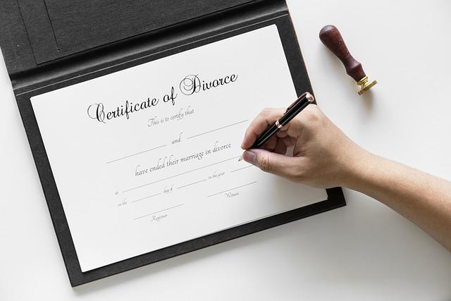 Podpisanie dokumentów rozwodowych